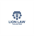 lion lawlion law abstract logo vector image