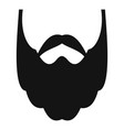 long beard icon simple style vector image vector image