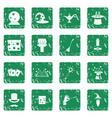 magic icons set grunge vector image vector image