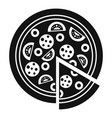 margarita pizza icon simple style vector image