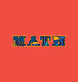 math concept word art vector image
