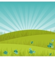 Meadow background at sunrise vector image vector image