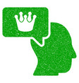 person dream crown icon grunge watermark vector image vector image