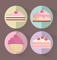 piece of cake design vector image vector image