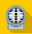 portable electric heater icon flat style vector image vector image