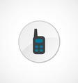 radio icon 2 colored vector image
