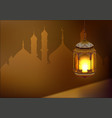 Ramadan kareem lamp Template greeting card vector image vector image