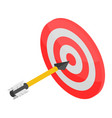 red white target icon isometric style vector image vector image