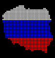 russia colors dot poland map vector image vector image