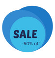sale sticker with abstract blue geometric forms vector image vector image