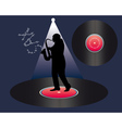 saxophonist and vinyl vector image