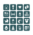 set of baby icons isolated vector image