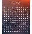 set universal web icons vector image