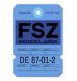 shizuoka airport luggage tag