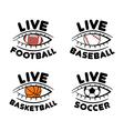 sport set icons for live football basketball vector image vector image
