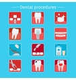 Stomatology and dental procedures flat icons vector image vector image