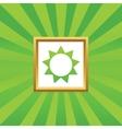 Sun picture icon vector image