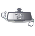 thumbs up rear view mirror in cartoon shape vector image
