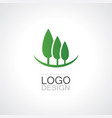 tree insurance business logo vector image vector image