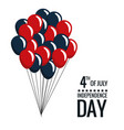 united states independence day celebrate balloons vector image vector image