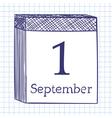 Wall calendar vector image vector image