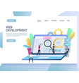 web development website landing page design vector image vector image