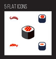 flat icon sashimi set of maki japanese food vector image