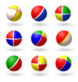 ball for children set of multi-colored bright vector image