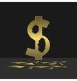 Cracked Dollar sign vector image