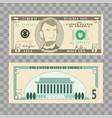 dollar banknotes us currency money bills - 5 vector image