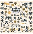 Heraldic Design Elements set vector image