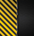 Metallic background with yellow and black stripes vector image