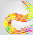 abstract colorful lines on a gray vector image vector image