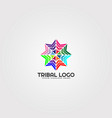 abstract tribal logo template modern colorful vector image