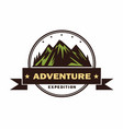 adventure camping campfire camping logo vector image vector image