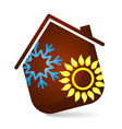 air conditioning for the house vector image vector image