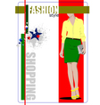 al 0412 shopping 02 vector image vector image