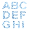 Alphabet from snowflakes vector image vector image