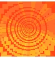 Asymmetrical red orange background of squares vector image