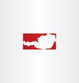 austria logo icon map vector image vector image
