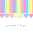 baby background with pastel colors hearts vector image