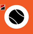 ball icon for in tennis vector image