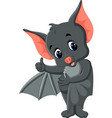 bat cartoon waving vector image vector image