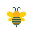 bee with wings and stripes vector image vector image