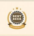 Beer festival Octoberfest celebration Retro style vector image vector image