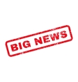 Big News Text Rubber Stamp vector image vector image