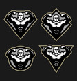 bodybuilder sport fitness logo a set of different vector image vector image