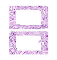 Business card with violet marble texture