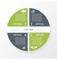 Business concept design with circle 4 segments vector image