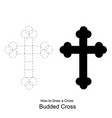 christian cross icon latin cross icon on backgroun vector image vector image